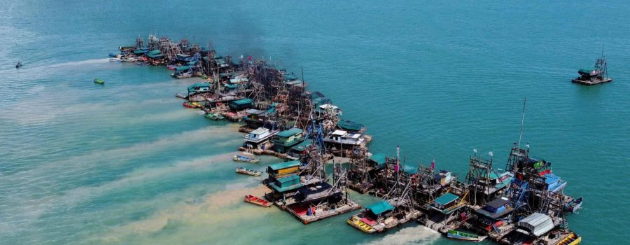 Offshore deposits: the floating tin mines of Indonesia – in pictures